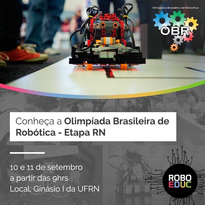 UFRN sedia etapa estadual da Olimpíada Brasileira de Robótica 2016