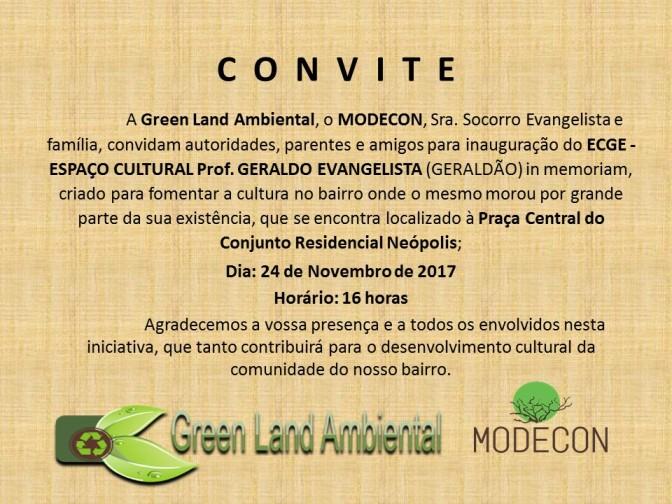 Neópolis ganha espaça cultura com nome do professor Geraldo Evangelista
