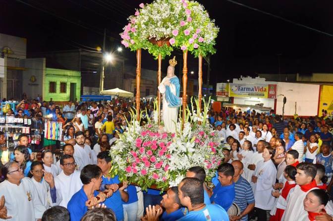 Procissão e missa encerram celebrações à Nossa Senhora da Conceição, padroeira de Macaíba