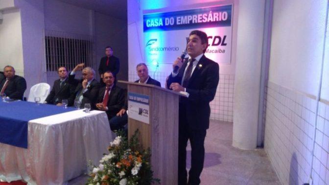 Empresário Vinícius Gama toma posse como novo presidente da CDL-Macaíba